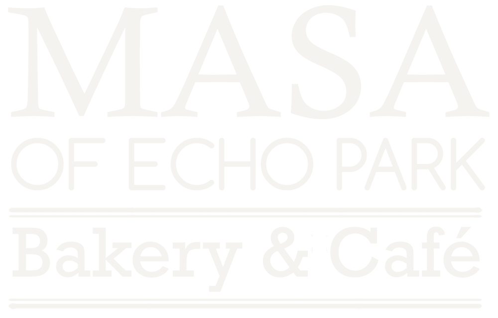 logo for masa of echo park restaurant and bakery