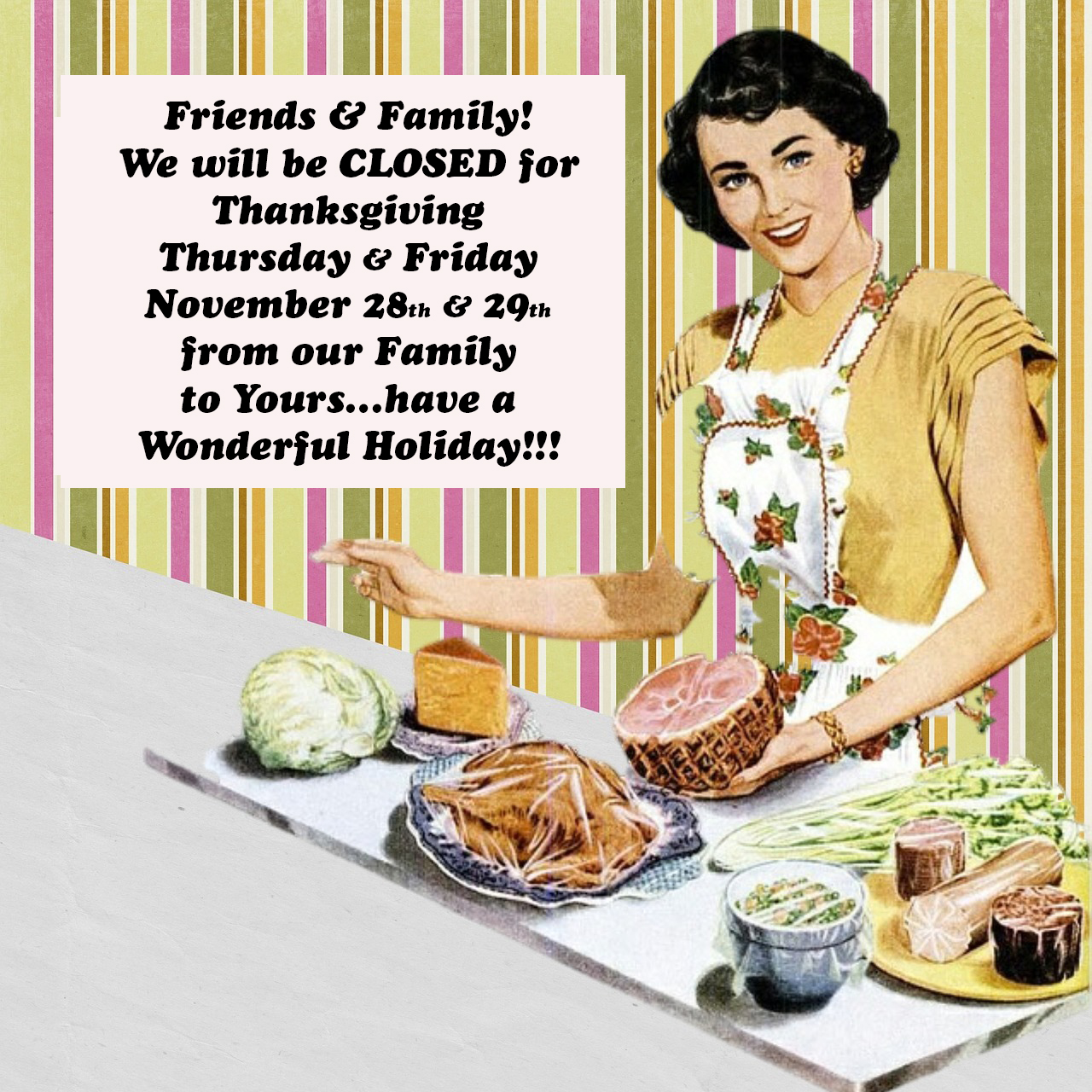 this is the image accompanying our We will be Closed for the Thanksgiving Holiday story